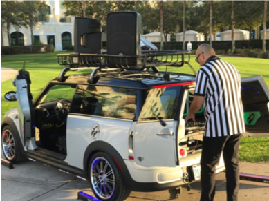 MINI Cooper Xtreme; Mobile DJ Vehicle Entertainment