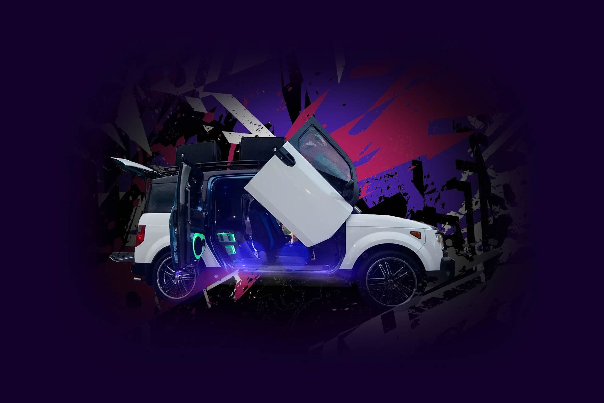 Enhanced-Honda-Element - Mix On Wheels